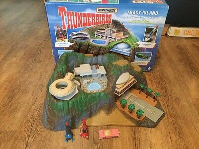 Boxed 1992 Vintage Matchbox Thunderbirds Tracy Island Electronic Play Set