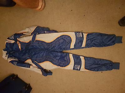 Race/Rally Suit Blue Sparco Adult or Teenager size.