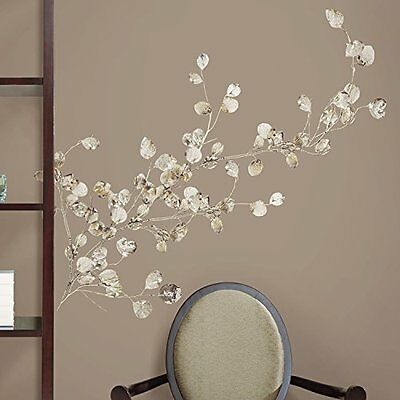 ROOMMATES RMK1677GM Silver Dollar Branch Peel and Stick Giant Wall Decal