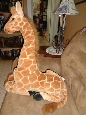 "Giraffe large 26"" realistic jumbo stuffed plush laying safari animal foam head"