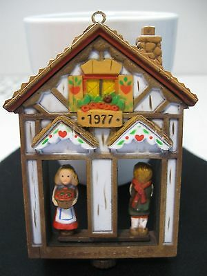 1977 Hallmark Cards Twirlabout Revolving House Boy Girl vintage Ornament