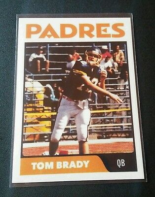 Tom Brady Rookie RC 1994 Trading Card NFL Limited Edition Patriots Padres