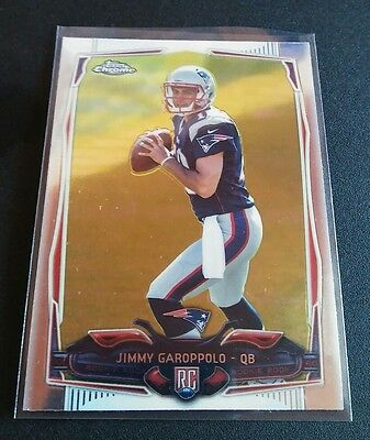 Jimmy Garoppolo #150 Rookie RC Topps Chrome 2014 Refractor Card NFL Patriots