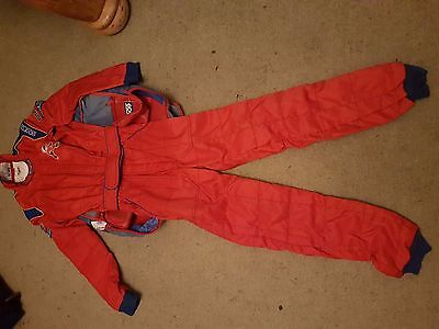 Race/Rally Suit Red  Sparco Adult or Teenager size.