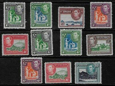 St Vincent 1949 - 1952 KGVI Pictorials - SS with colour changes - MH