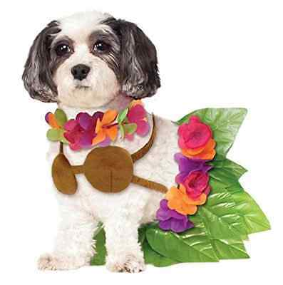 Hula Girl Hawaiian Tropical Luau Beach Fancy Dress Halloween Pet Dog Cat Costume
