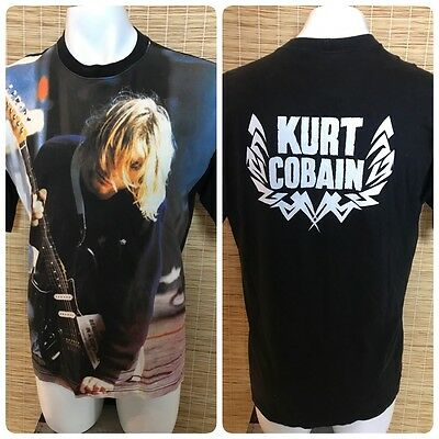 "Kurt Cobain Nirvana Grunge Rock Concert Graphic Shirt Rare Collectible ""A3"""