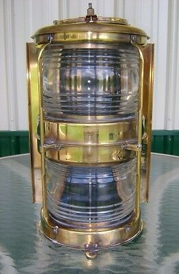 Marine Salvaged Brass Double Stack Navigation Light