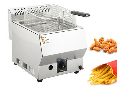 TB Stainless Steel Propan Gas Commercial Countertop Deep Fryer Propane LPG 8 Lt