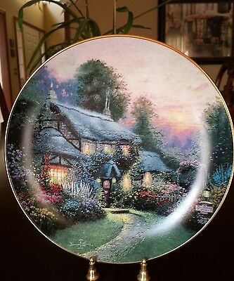 Julianne's Cottage by Thomas Kinkade Enchanted Cottages Collectors Plate