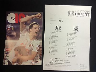 Leyton Orient Football programmes Tell me what you want