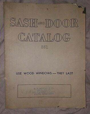 Vintage Sash and Door Catalog 351 from D.D. Duncan & Co Los Angeles California