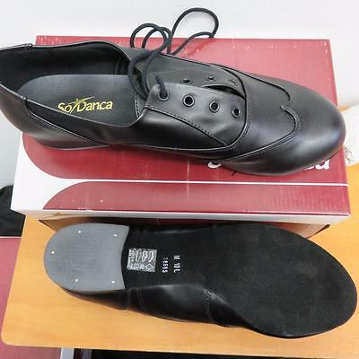 Mens Ballroom Character Oxford Jazz Shoes CLOSEOUT 9.5 Wide-10 BLACK Musical