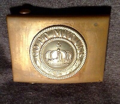 Rare Copper(Mint)Enlisted Man's Belt Buckle,140+ Years Old,Franco-Prussian War