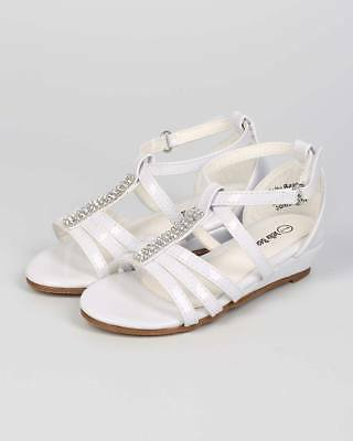 7a3bf0bc9983 New Girl Jelly Beans Jaloho Patent Open Toe Rhinestone Strappy Low Wedge  Sandal