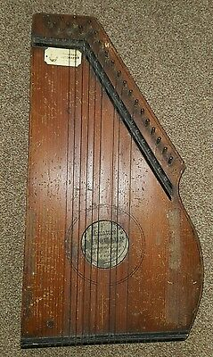 ANTIQUE AUTOHARP BY C.F.ZIMMERMAN c1882 for restoration