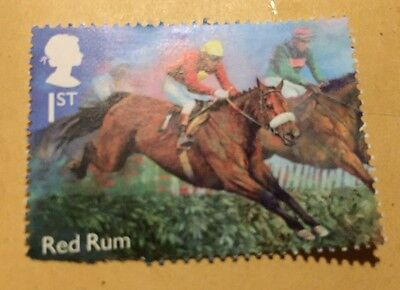 "Racehorse Legend ""Red Rum"" illustrated on 2017 stamp - Unmounted mint New"