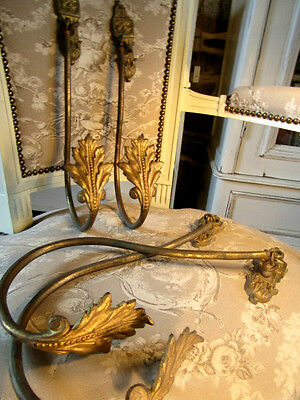 Two Very Large Pairs of French Solid Gilt Cast Bronze Curtain Holdbacks/Tiebacks