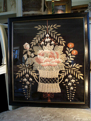 An Antique Framed Chinese Embroidery