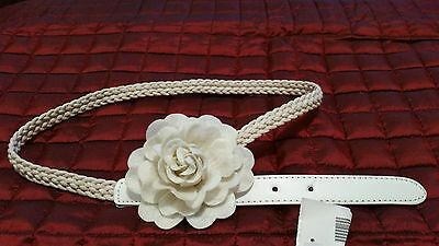 A braided BELT for a little girl with a flower