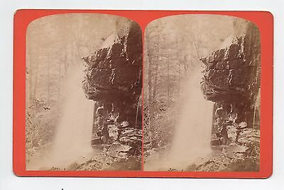 Mauch Chunk Pennsylvania Stereoview Cave Fall Home of the Mist
