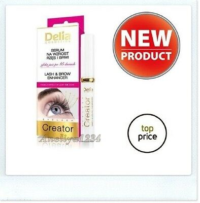 NEW, DELIA EYELASH & BROW SERUM LASH EYEBROW ENHANCER KERATIN Best Price