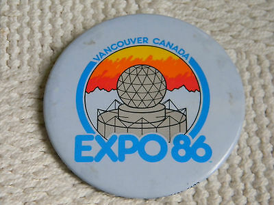 Expo 86 Vancouver Canada Vintage  Button Lapel / Hat Pin Pin Back