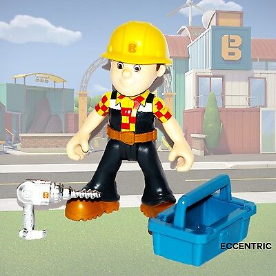 Bob The Builder Figure & Die Cast Drill Tool Box Fisher Price