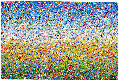 Very Large Modern Art Abstract Impressionist Landscape Painting On Loose Canvas