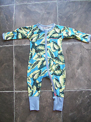 BNWT Baby Boy's Bonds Blue & Yellow Zip Wondersuit/Coverall Size 000