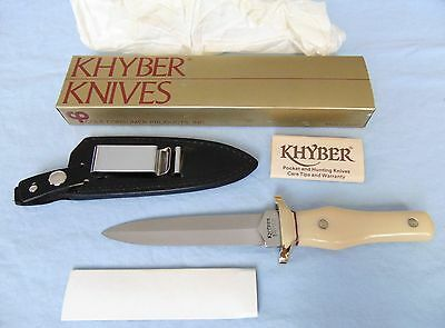 vintage Khyber Ka-bar 2750 fighting dagger boot knife - NOS - 1979 - Japan