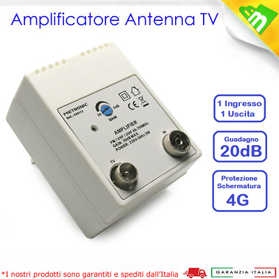 Metronic Amplificatore Antenna TV Digitale Terrestre Segnale Interno UHF 440112