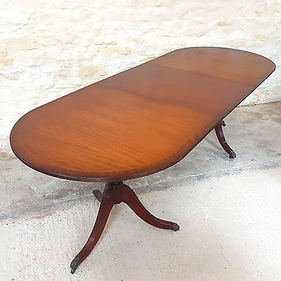 8ft Regency Style D-End Mahogany Extending Dining Table (Antique)