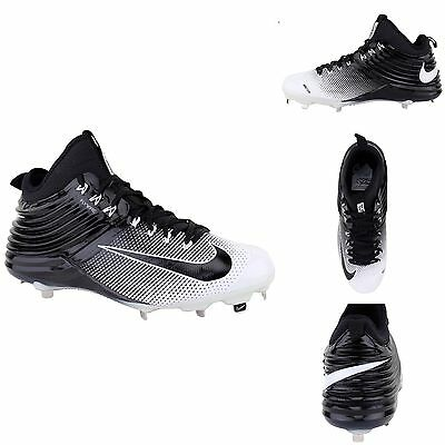 Nike Fly Wire Lunar Mike Trout Baseball Cleats Black/White New Size 12 Men's