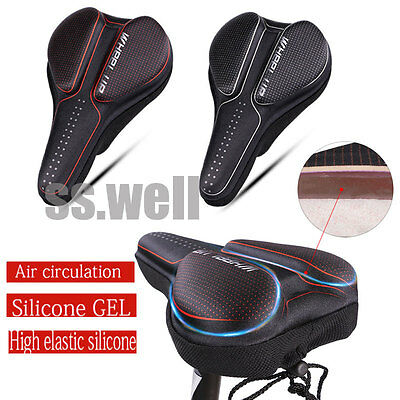 Bike GEL Soft Saddle Pad Cushion Seat Cover Case Silicone Road Bicycle Cycling