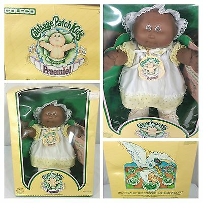 1983 Cabbage Patch Preemie Lilly Prudence African American w/Box Certificate