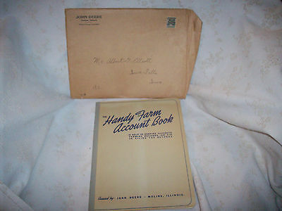 1943 John Deere Handy Farm Account Book Unused With Envelope
