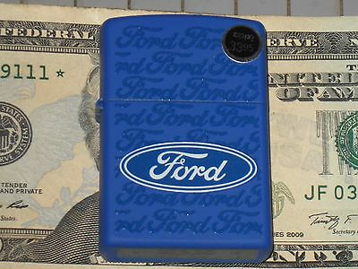 New Windproof USA Zippo Lighter 78414 Ford Blue Oval Rows of Ford down the Case
