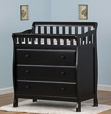 DREA-602K-Dream on Me Marcus Changing Table and Dresser Black