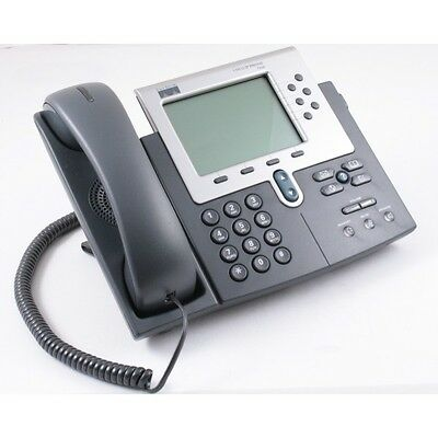 SIP Cisco 7960 Series CP-7960G VoIP PoE Business Phone w/ Handset SIP Firmware