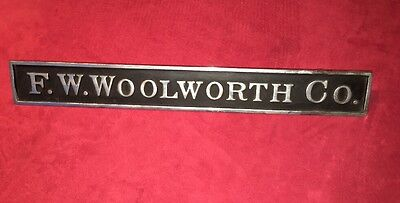 Antique F.W. WOOLWORTH COMPANY COUNTER SIGN Plaque