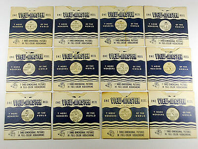 12 x RARE VINTAGE VIEWMASTER REELS / 3D PICTURES / ISLANDS OF HAWAII...AND MORE