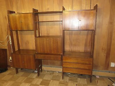 Danish Modern Mid Century Bookcase Desk Combination Pick Up Only