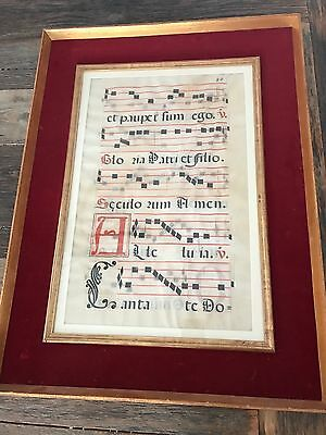 16th Century (1500's) Gregorian Chant Sheet Music - VERY RARE! Nicest on eBay!
