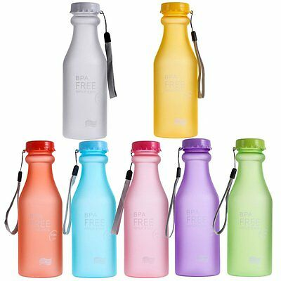 550ml Portable Plastic Water Bottle Sport Container Bike Outdoor Travel Camping
