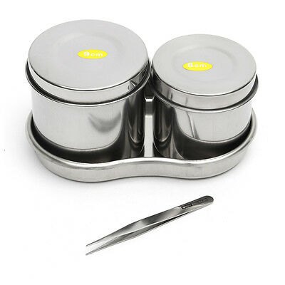 Medical Stainless Steel Disinfection Cylinder Tray Brucelles Tattoo Makeup Tools