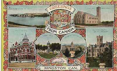 Vintage  Postcard - Greetings From Kingston, Canada - Multi Scene