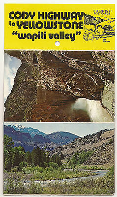 6 Vintage Detachable Postcards - Cody Highway To Yellowstone - Wapiti Valley