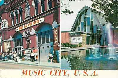 Vintage Unused Postcard-The Grand Ole Opry House & Country Music Hall Of Fame
