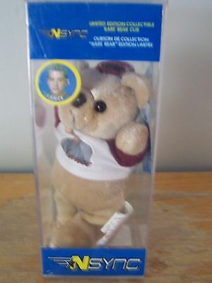 Limited Edition 2000 Nsync Lance Bass Collectable Rare Bear Cub - Original Case